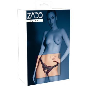 Аксессуар для страпона - 2000920 Leather String Strap-on, black, S-L