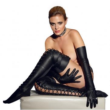2060108 Leather Thigh-high - black