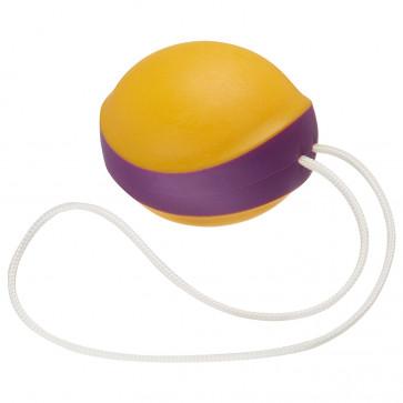 Вагинальный шарик - Amor Gym Ball Single, желтый/фиолетовый