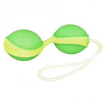 Вагинальные шарики - Amor Gym Balls, зеленый/желтый