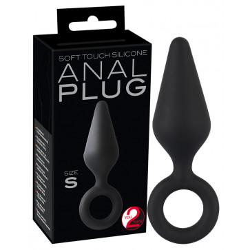 Анальная пробка - Y2T Black Soft Touch Plug S