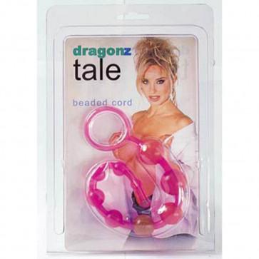 Анальная цепочка - Dragonz Tale Anal-Kugel-Kette, розовый, 30 см