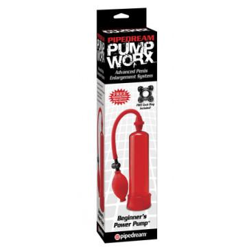 Вакуумная помпа - Pump Worx Beginner's Power Pump, красный