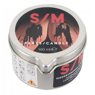 БДСМ - Candle in a Tin S/M, черный, 100 г