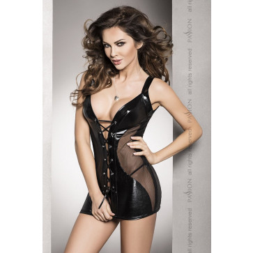Пеньюар DONATA CHEMISE black L/XL - Passion Exclusive