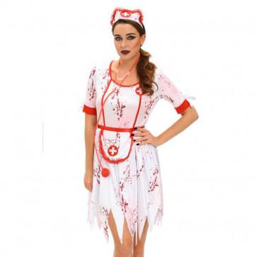 3pcs horrible zombie nurse costume