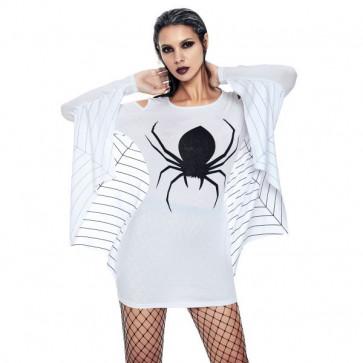 белое карнавальное платье-паука из джерси