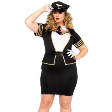 5 Pieces Plus Size Mile High Pilot Costume