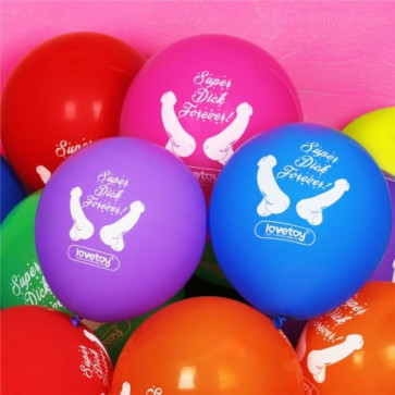Super Dick Forever Bachelorette Balloons(Pack of 7)