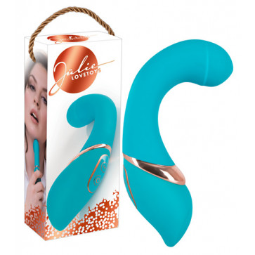 Hi-tech вибратор - Jülie Lovetoys Curvy Turquoise