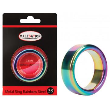 MALESATION Metal Ring Rainbow Steel