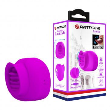 Вибратор - Pretty Love Estelle Licking Vibrator Purple