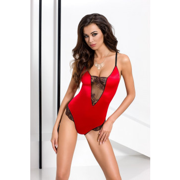 Женское Боди BRIDA BODY red L/XL - Passion Exclusive
