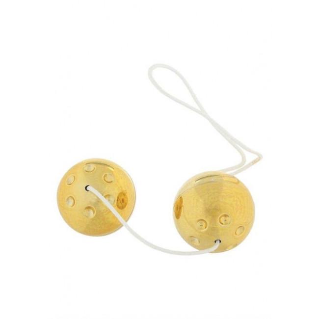 Вагинальные шарики - Plastic Balls Gold - [Фото 2]